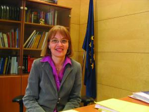 Maria Teresa Calvo, represetant del Parlament Europeu a Barcelona.